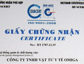 IS0:9001 Certificate