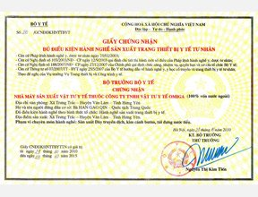 Medical Equipment Production Certificate